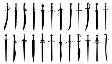 sword silhouettes