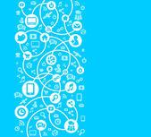 Fotografie Hintergrund des sozialen Netzwerks des Symbolvektors