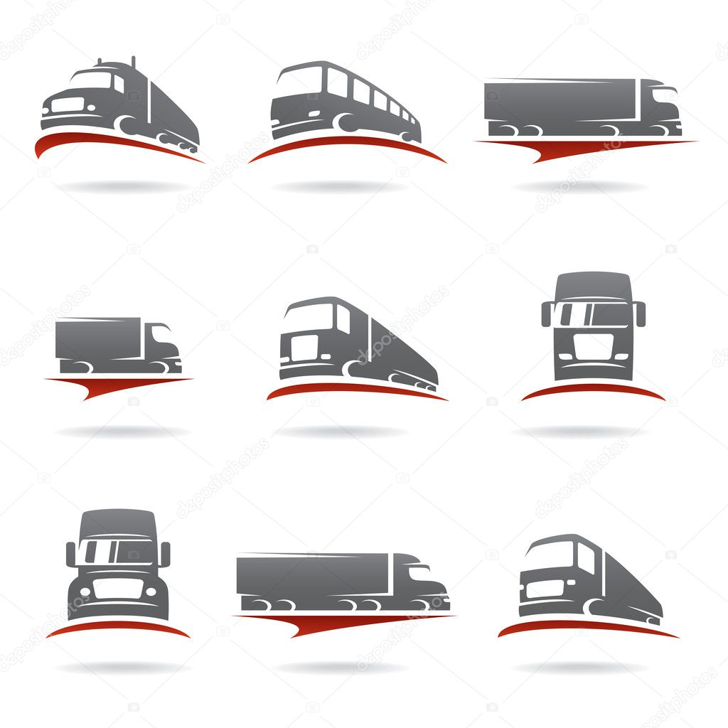 Trucks set.