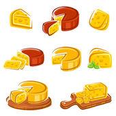 Fotografia set di formaggio. Vector