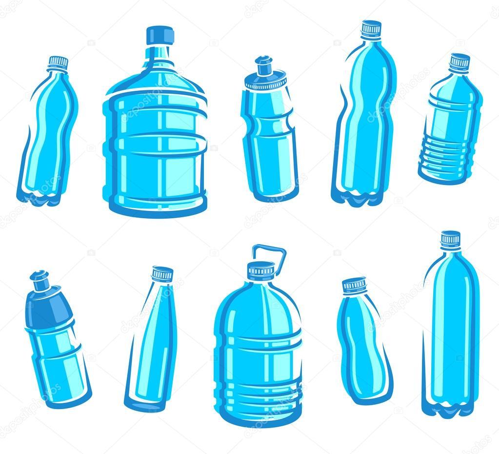 Water Bottle Vector: Stock Vector © Vasilev_Ki #36327173