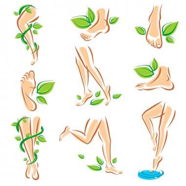Healthy legs set.