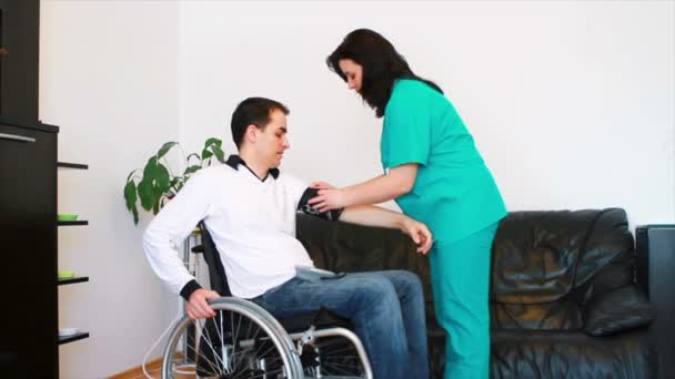 Blood pressure check for disabled young adult