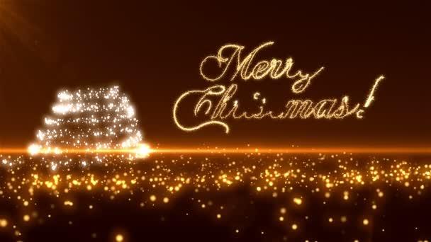 Arany karácsonyfa háttér Loopable
