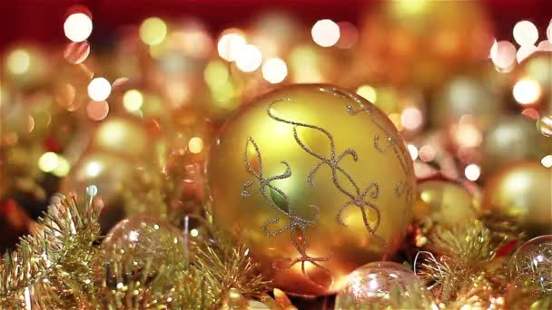Golden Christmas Decoration With Lights