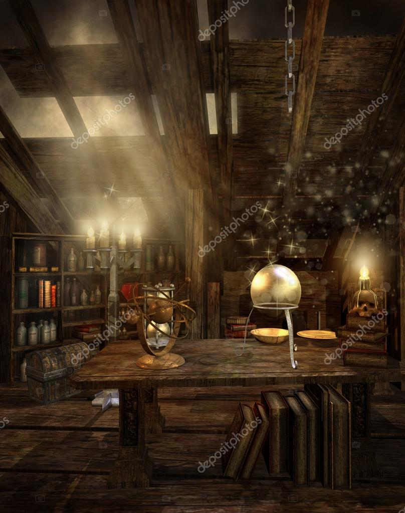 The Attic Room fantasy room in the attic — stock photo © fairytaledesign #12651631
