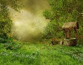 Fotografie stará vesnice zahrada