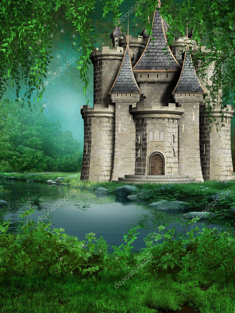 Fairytale castle by the river