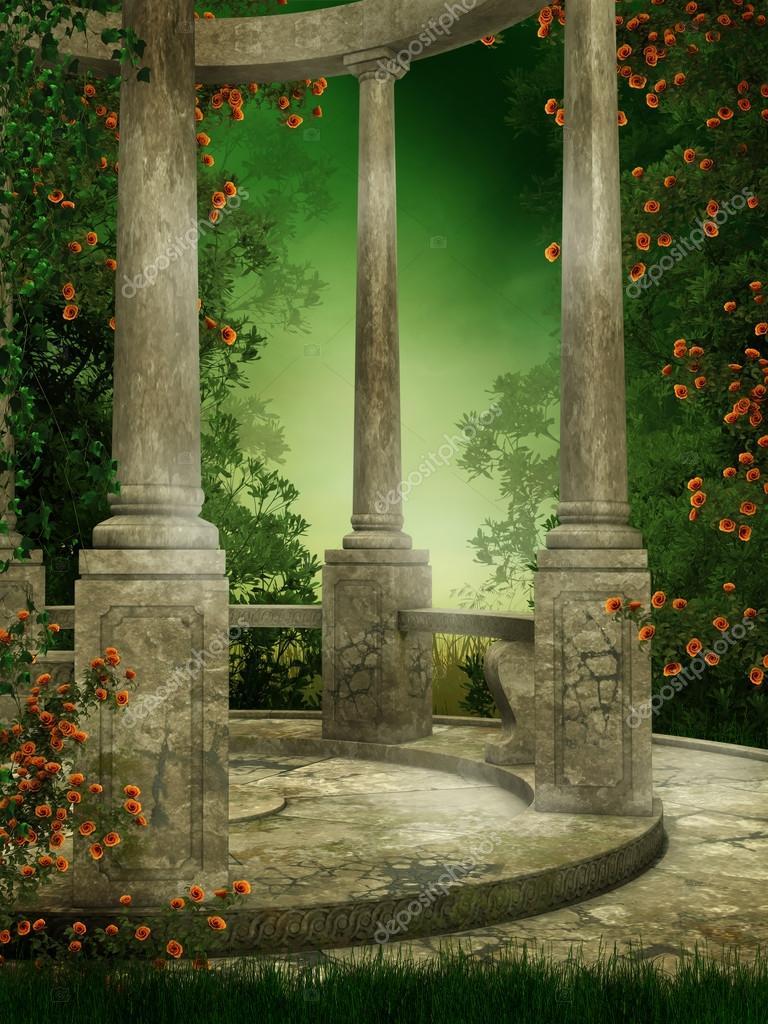Rotunda with roses