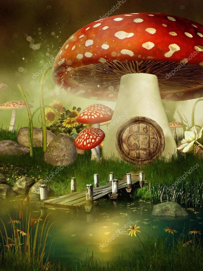 Fairytale mushroom house