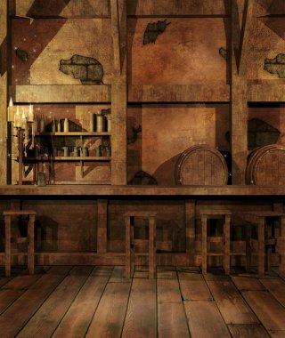 Fantasy tavern interior