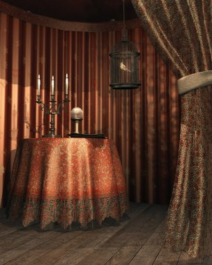 Fantasy gypsy tent