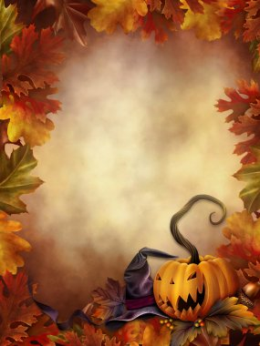 Colorful background with leaves