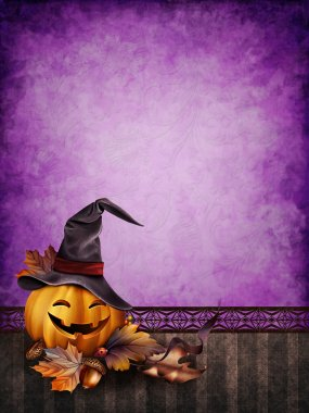 Purple Halloween background
