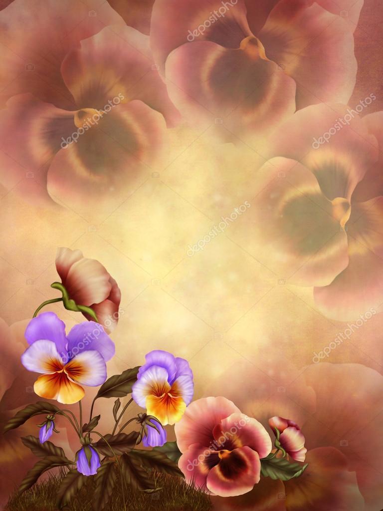 Autumnal pansies