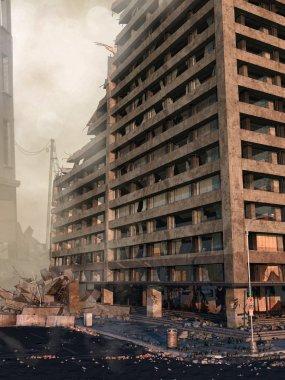 Ruins of a skyscraper
