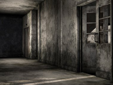 Old dirty hallway