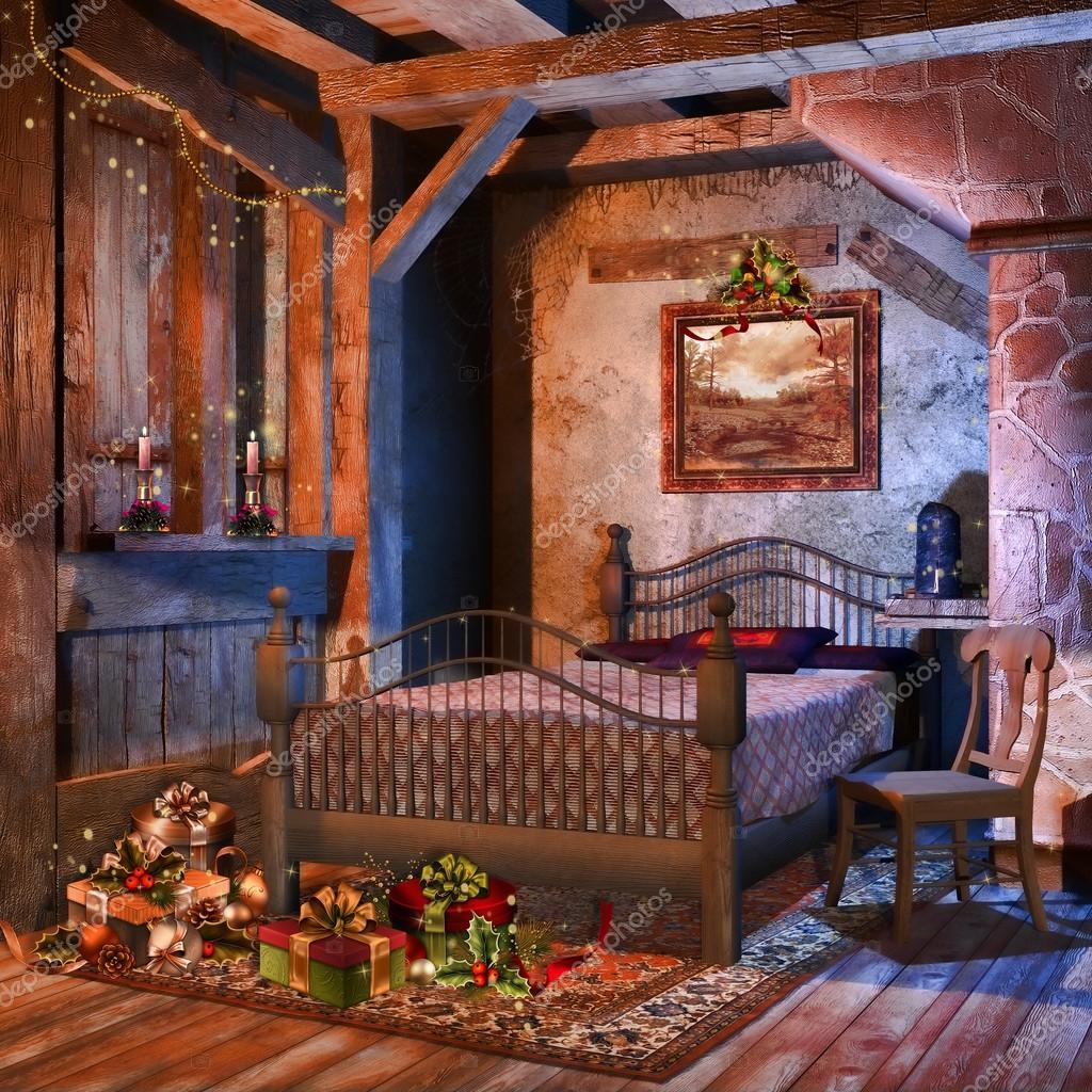 vecchia camera da letto con regali ? foto stock © fairytaledesign ... - Camera Da Letto In Regalo
