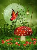 gomba rét és a pillangó