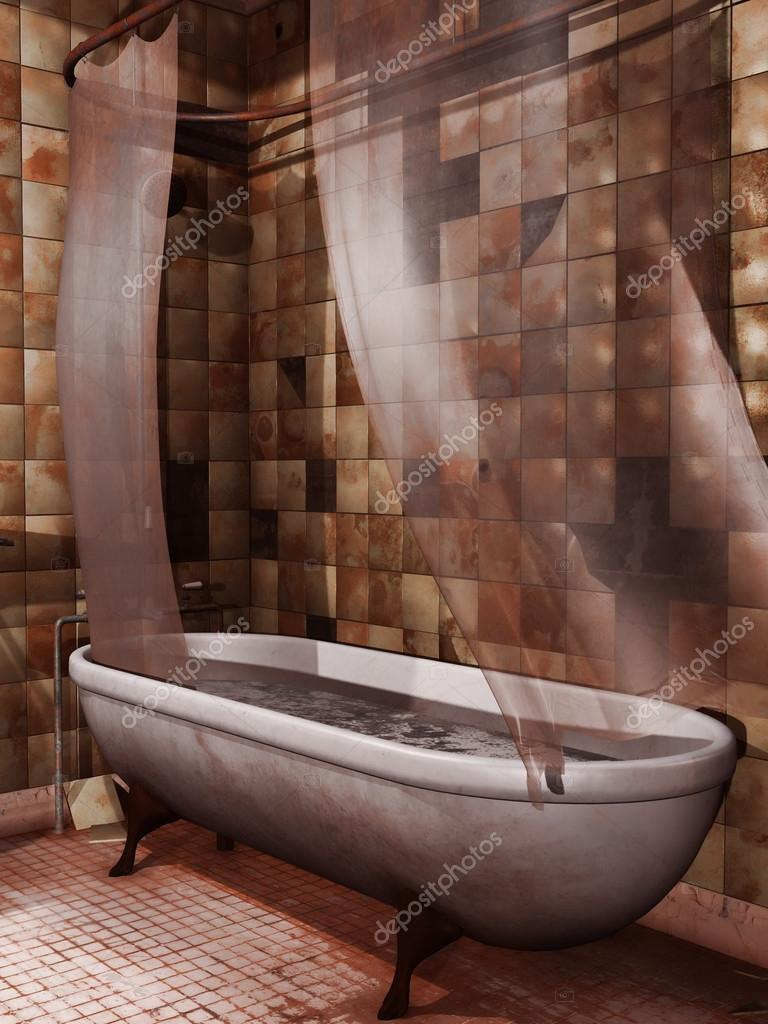 Old bathtub with blood — Stock Photo © FairytaleDesign #43735579