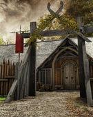 cancello al vecchio insediamento