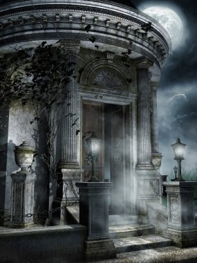 Old spooky mausoleum
