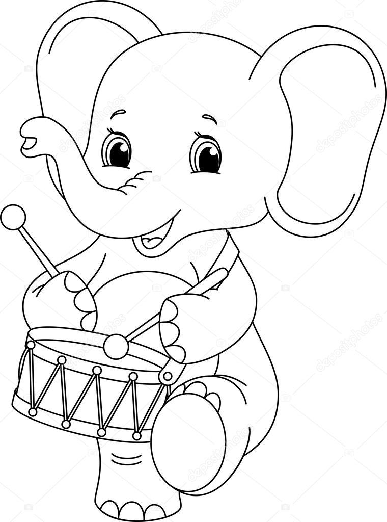 olifant kleurplaat stockvector 169 malyaka 50803655
