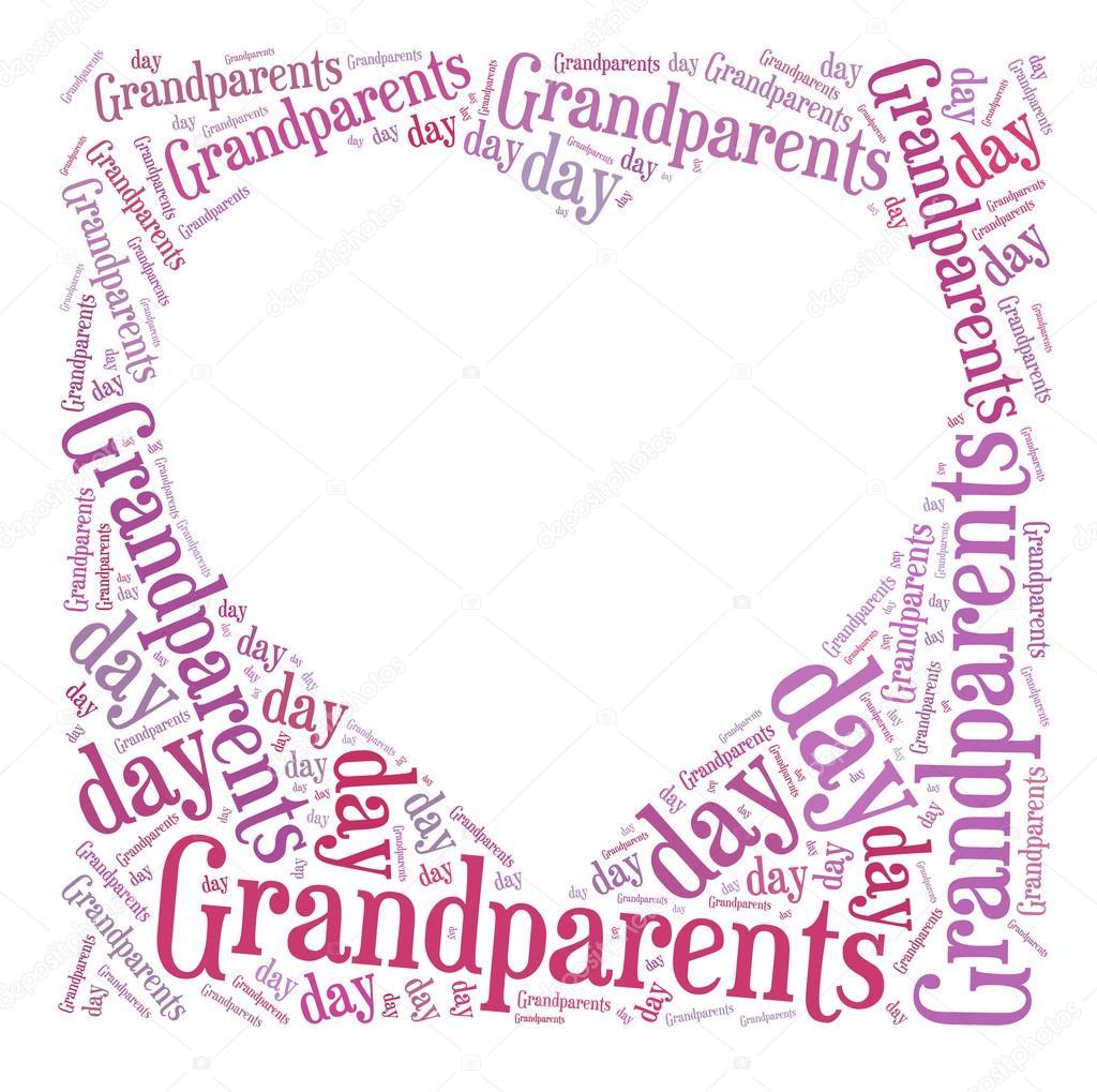 etiqueta o palabra nube día de los abuelos relacionada en forma de ...