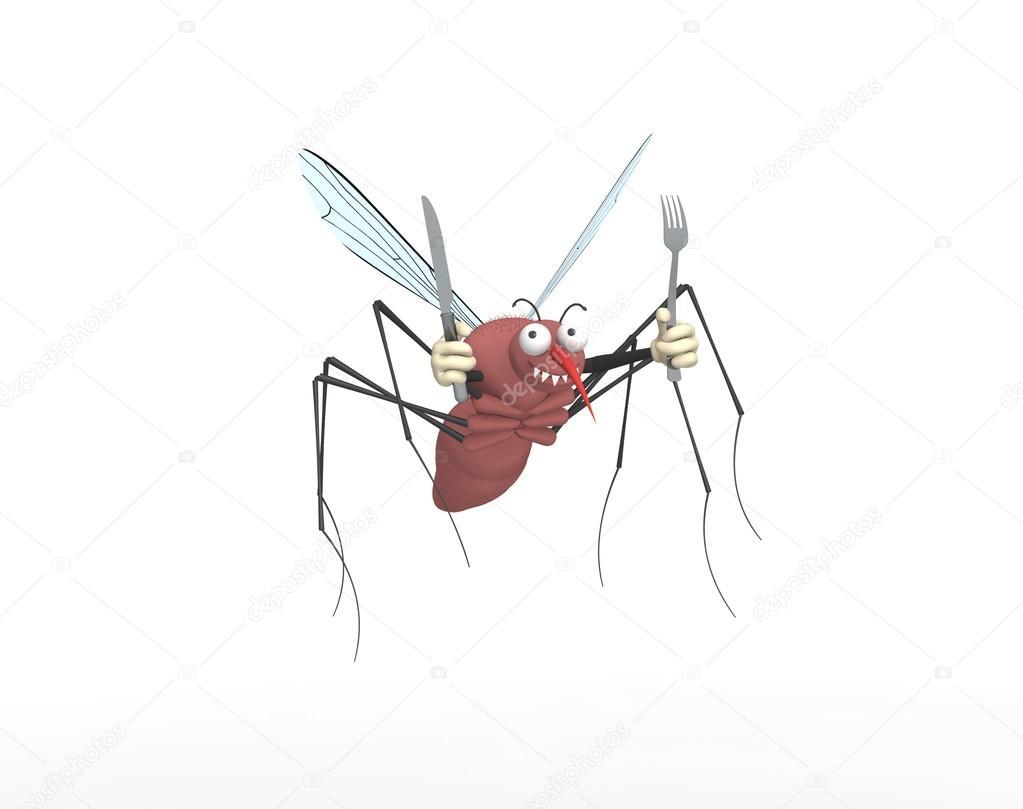 Картинка смешных комариков, поздравительных