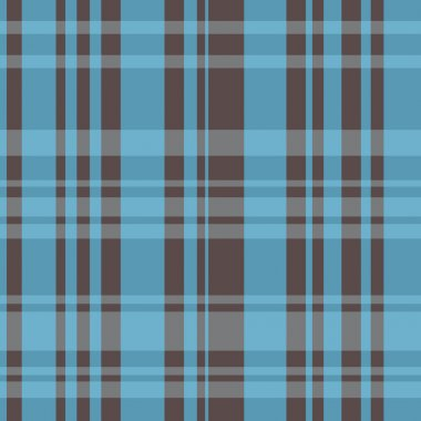 Brown and Blue Plaid