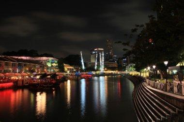 Clarke Quay Singapore Night Scene