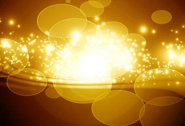 Golden sparkling background