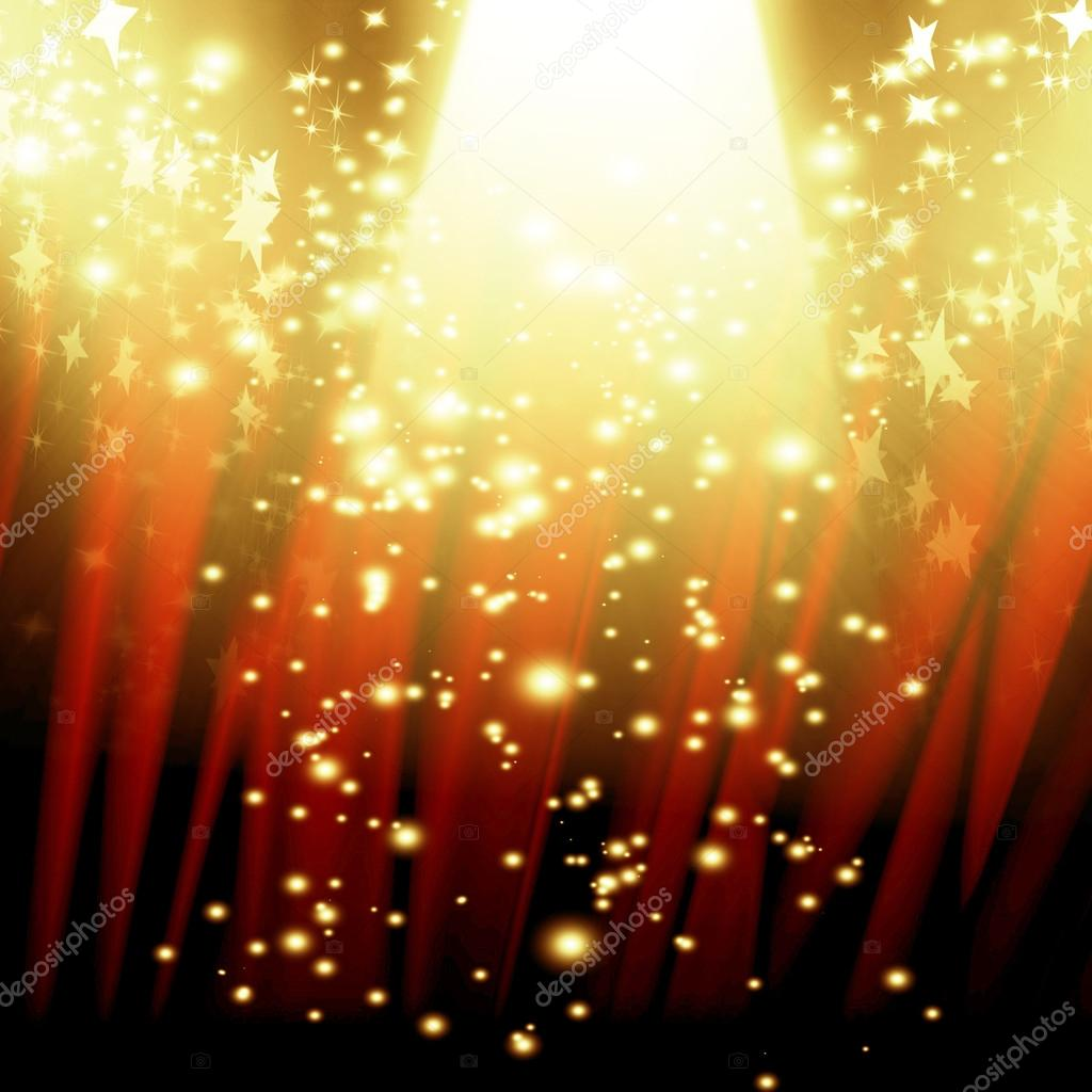 Red curtain spotlight - Red Curtain With Spotlight Stock Photo 31065939