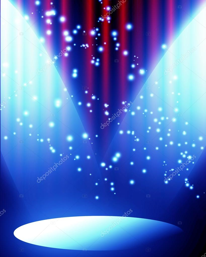 Red curtain spotlight - Red Curtain With Spotlight Stock Photo 31425381