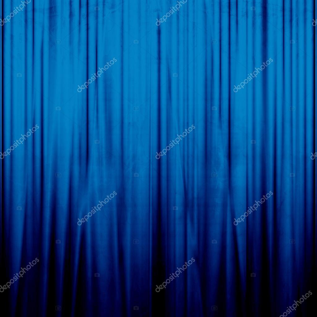 blauwe gordijnen stockfoto
