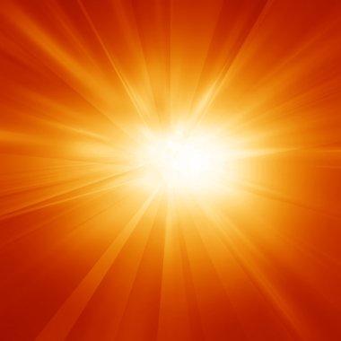 Bright summer sun