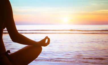 Yoga exercise abstract