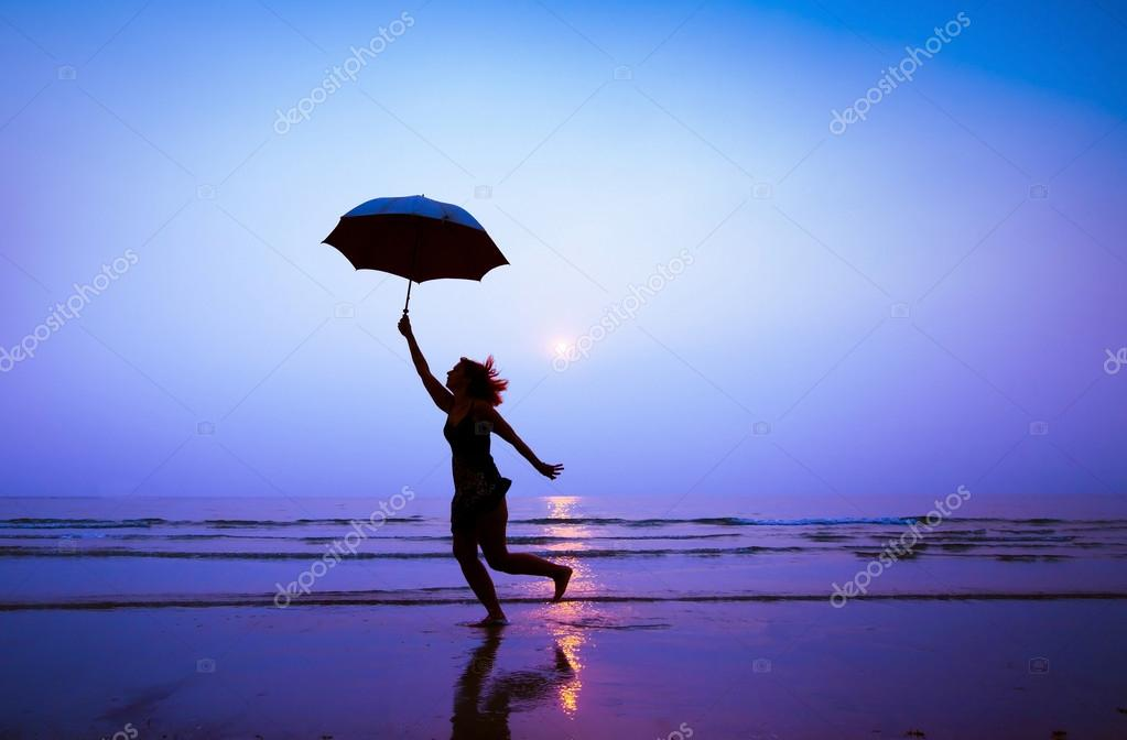 Woman with unbrella