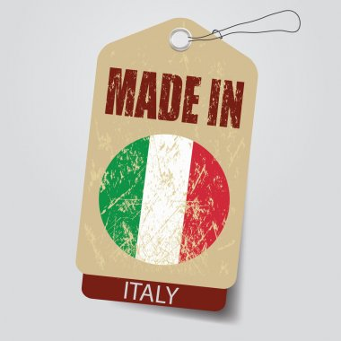 Made in Italy . Tag .
