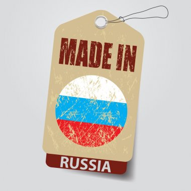 Made in Russia . Tag .