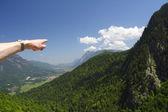 Fotografie zu den Bergen