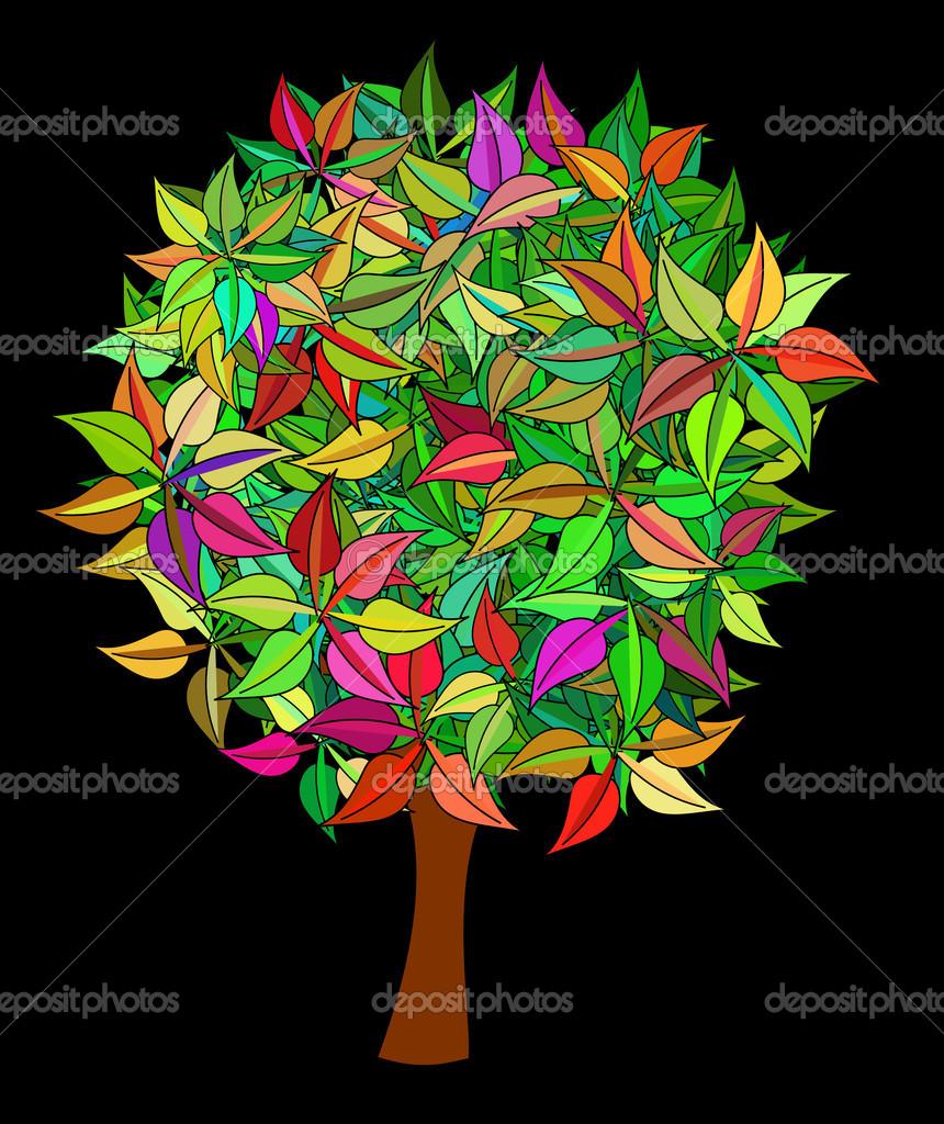 Colorful tree — Stock Photo © drow #20496357