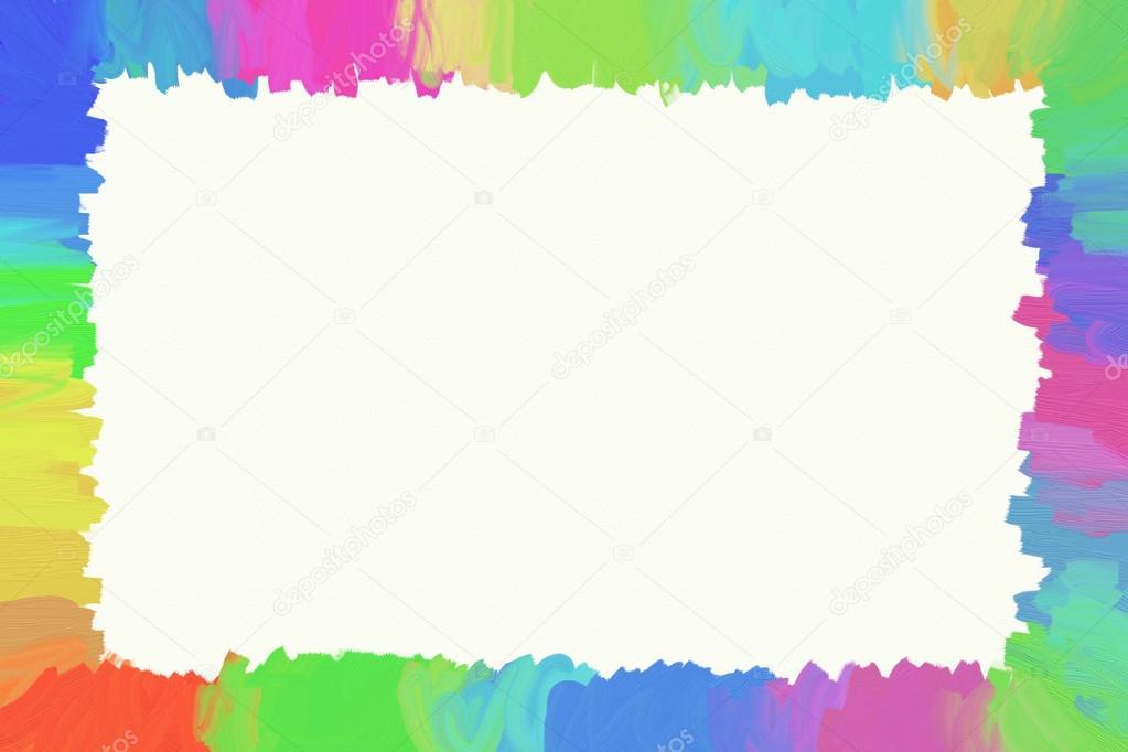 Marco De Pinceladas De Colores