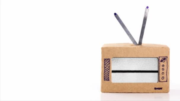 Karton Tv zaj és a vízszintes sáv