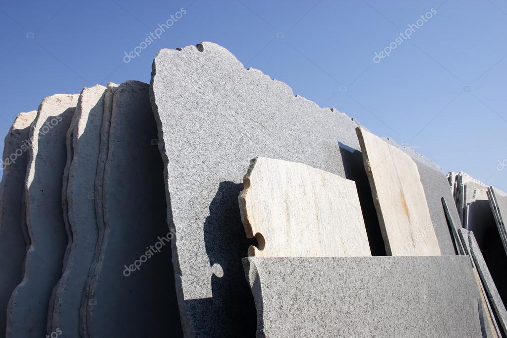 Cut stones marbles parts