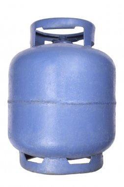 Blue butane gas tank
