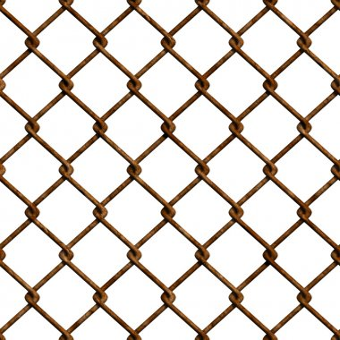Rusty fence seamless texture