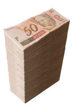 Brazilian money - Fifty Reais pile