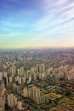 Aerial view of Sao Paulo city