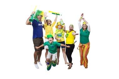 Brazilian supporters celebrating